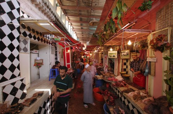 Riad La maison d'a cote: The meat souk!