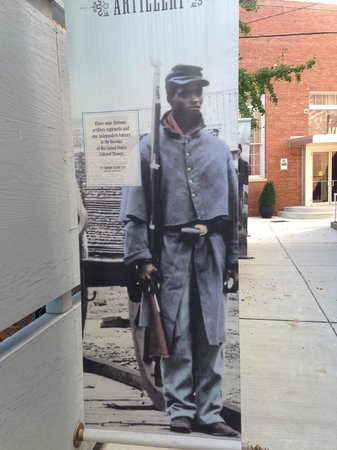 African American Civil War Memorial & Museum: As you enter ally to the museum