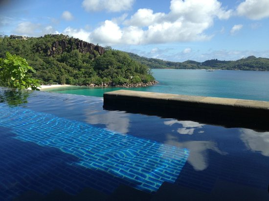 MAIA Luxury Resort & Spa: View from the Villa's pool