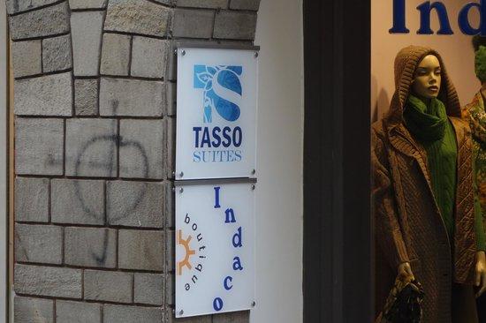 Tasso Suites: sign