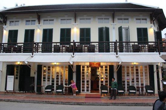 The Belle Rive Boutique Hotel: Zimmer über der Lobby mit Balkon