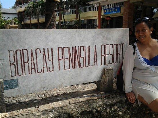 Boracay Peninsula Resort: Front of boracay peninsula
