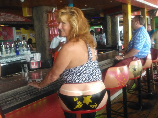 Senor Frog's: Cute barstools, looks great when guys sit in them. in freeport