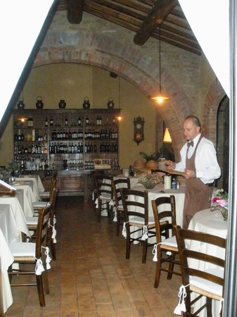 Villa Cicolina : The restaurant - exclusively for the hotel guests