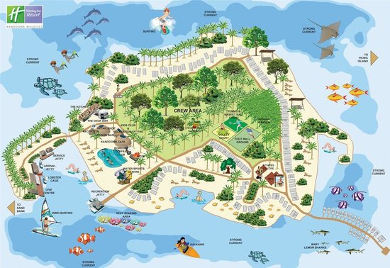 Holiday Inn Resort Kandooma Maldives Island MAP
