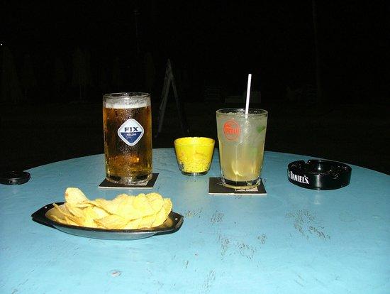 Patriko : Our favourite tipple: fresh ale and Mojito mmm.......