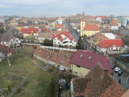 Golden Tulip Ana Tower Sibiu: Вид из окна номера