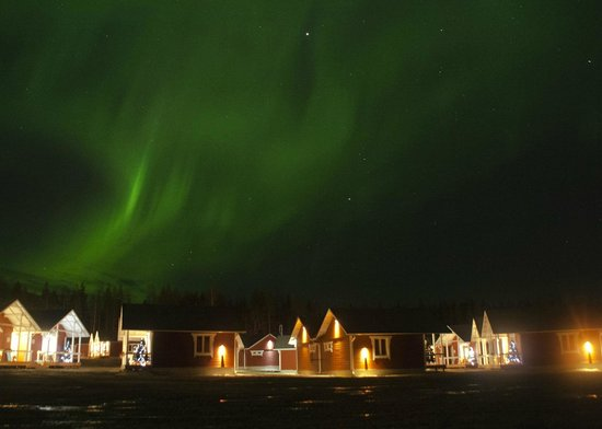 Santa Claus Holiday Village: Northern lights also in October.