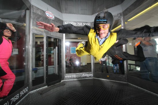 iFLY Indoor Skydiving Denver : Great for teambuilders.