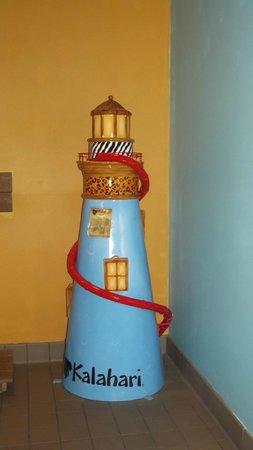 Kalahari Resorts & Conventions : light house by the waterpark enterance