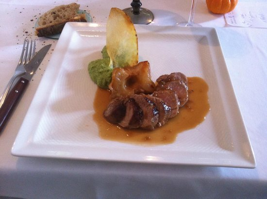 Hotel Restaurant Castet : filet mignon de porc
