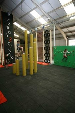 ready2climb Adventure Zone: Choose from the daunting towering steps or traditional playground tyre and net climbs