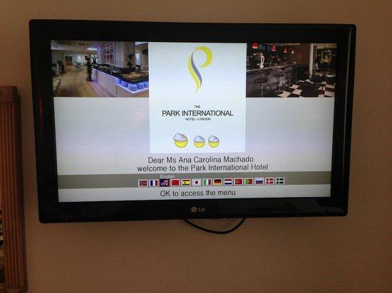 Park International Hotel: Receptividade do Hotel no quarto