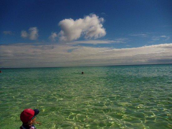 Corralejo Dunes: Clear blue sea