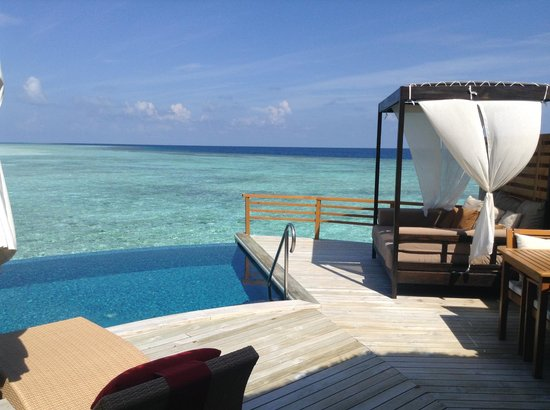 Baros Maldives: Our over water villa with pool