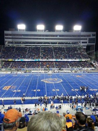 Bronco Stadium at night Bsu vs Nevada
