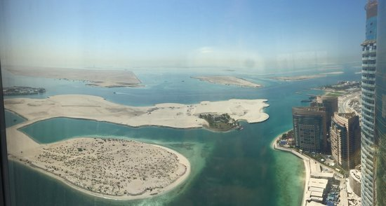 Jumeirah at Etihad Towers: View from my room on the 42nd floor
