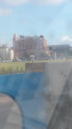 Queen's Hotel : View from the hovercraft (through the window!)