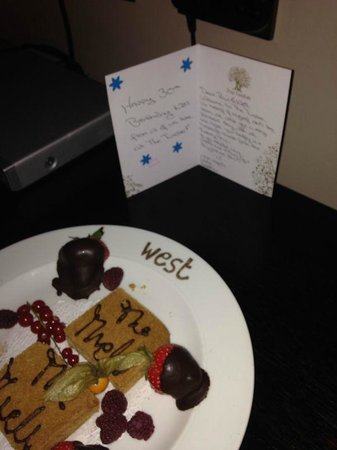 The Twelve Hotel: Welcome treat from the hotel for my 30th Birthday