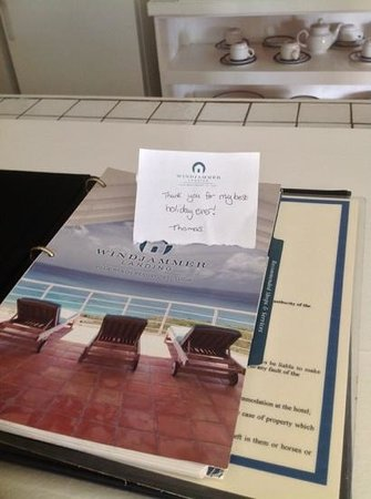 Windjammer Landing Villa Beach Resort: our sons message to staff..!