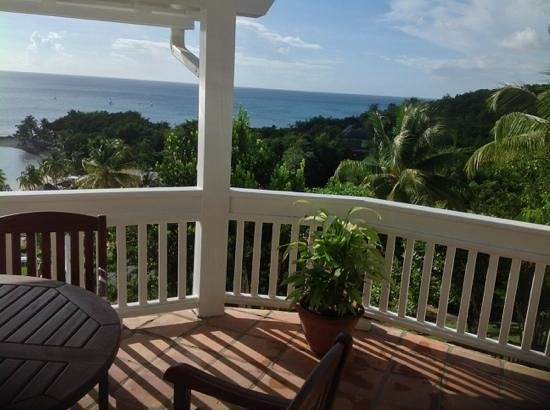 Windjammer Landing Villa Beach Resort: Villa 40's main balcony view, Oct 2013
