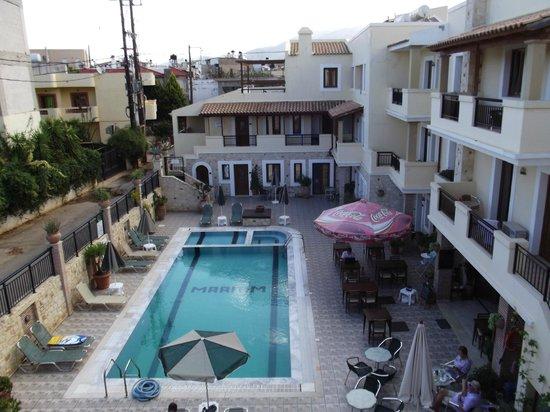 Maliatim Apartments: Aussicht Appartment 1. Stock