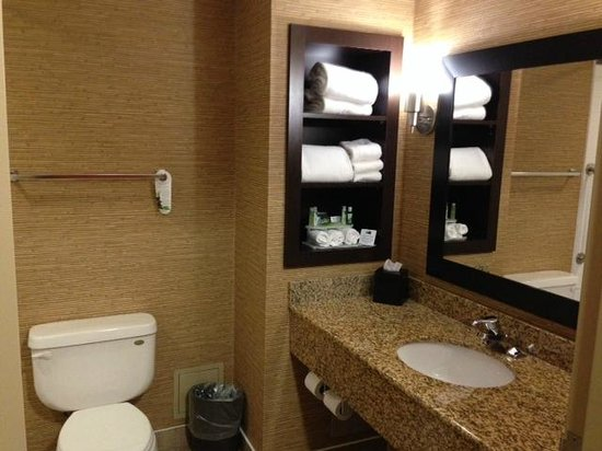 Holiday Inn Express Hotel & Suites Woodstock: Clean, modern bathroom