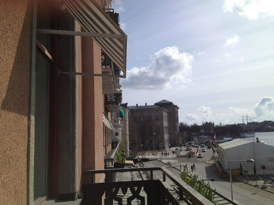 Grand Hotel: view over to Skeppsholmen