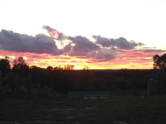 Ciccone Vineyard and Winery: Gorgeous sunset at Ciccone!