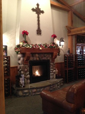 Ciccone Vineyard and Winery: Come sit by our fire and enjoy a glass of wine!