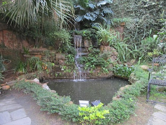 Nirvana Garden Hotel: Pretty little waterfall in the garden