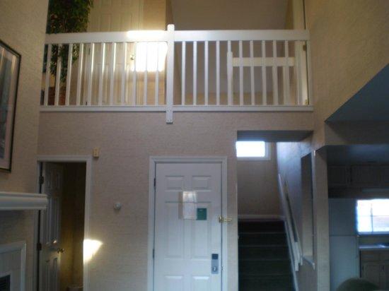 Fernwood Resort : Balcony on Second Floor Looking Into Living Room