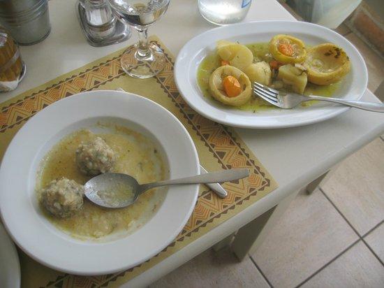 Restaurant Anna : meatballs and artichokes w/ lemon sauce