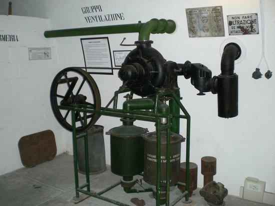 Museo Forte Bramafam: camera di ventilazione all'interno del forte