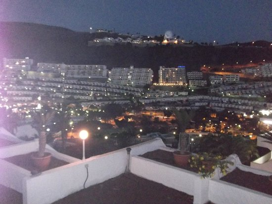Aparthotel Puerto Plata: view from our balcony at night