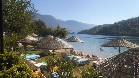 Oludeniz Resort by Z'Hotels: View from Sun City Beach club restaurant