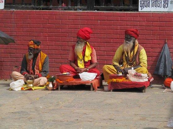 Manakamana Temple : The village holy men