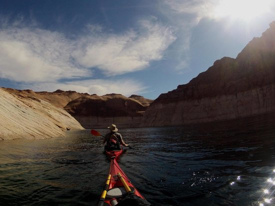 Kayak Lake Powell - Rentals and Day Tours: Jim me guidant dans Navajo Canyon