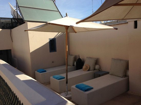 Riad Adore: ONE OF SEVERAL TANNING AREAS