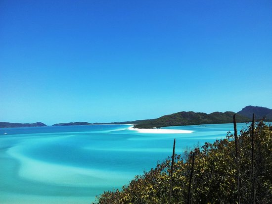 Airlie Beach, Austrália: Hill Inlet lookout to Whitehaven Beach