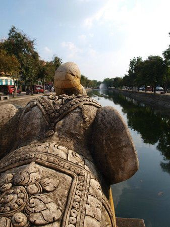 Chiang Mai Gate Hotel : The moat around the city