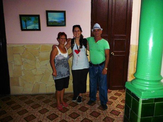 Hostal Vista Park : junto a Noelys y Miguel