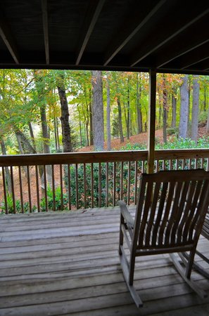 Asheville Cabins of Willow Winds : Our view from the back porch/deck
