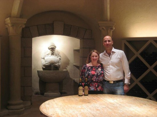 "Far Niente Winery: In the caves, in the ""wine library"""