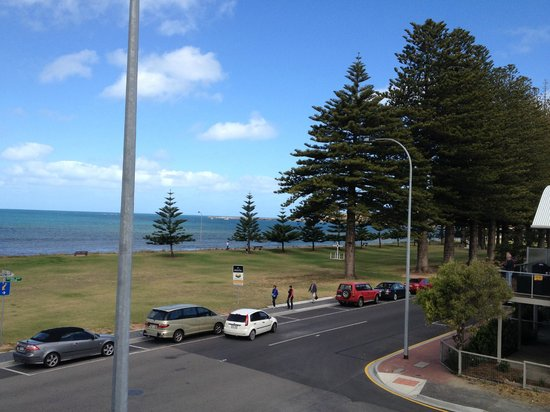 Anchorage Seafront Hotel: Veiw from the little bacon