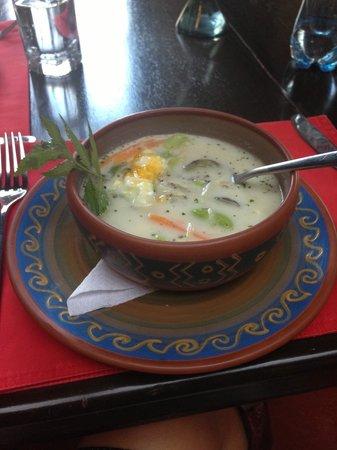 Qanela Restaurante : Amaazing Quinoa Chowder