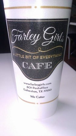 Farley Girls Cafe: Good advertising.