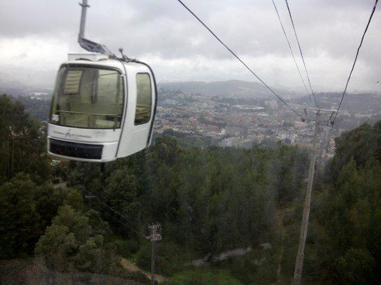 Teleférico de Guimarães : Bajando en el teleférico