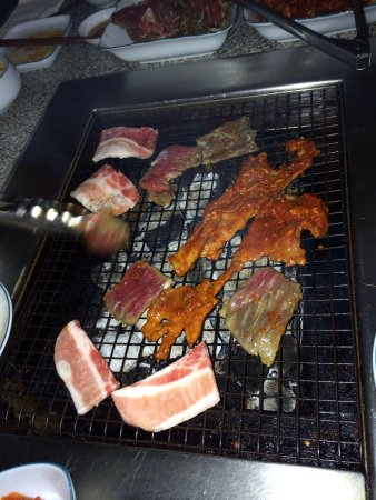 Kalbi Spicy Pork Pork Belly Picture Of Jang Soo Bbq San Francisco Tripadvisor