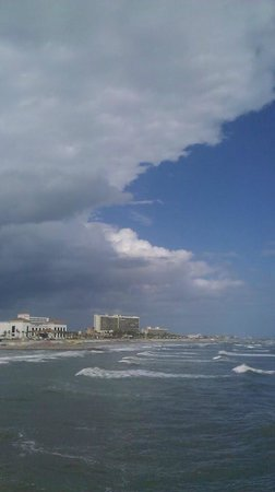 Galveston's 61st Street Fishing Pier: Cold front moving in.